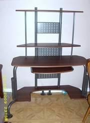 Gorgeous Dark Wood & Metal Computer Desk!! Excellent Condition